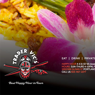 Website, SEO & copywriting for Trader Vic's Portland