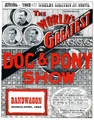Do you want a dog and pony show or do you want to find the best agency?