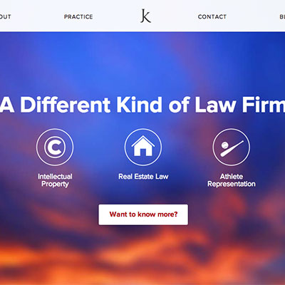 Website for Kuzmich Legal
